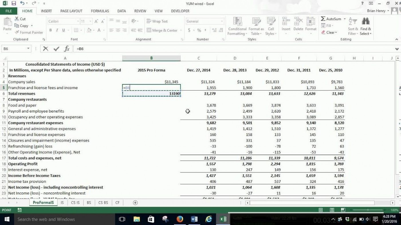 006 Stunning Income Statement Format In Excel With Formula Picture 1400