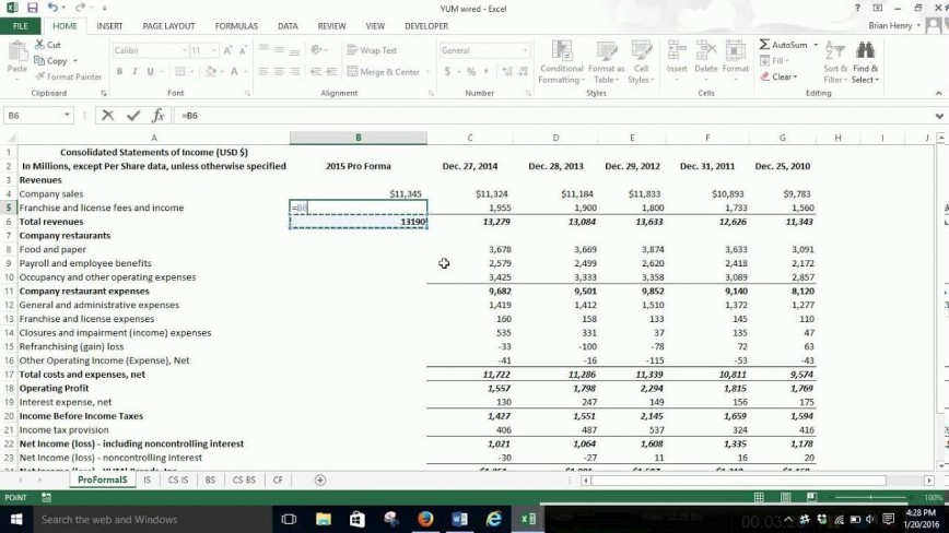 006 Stunning Income Statement Format In Excel With Formula Picture 868