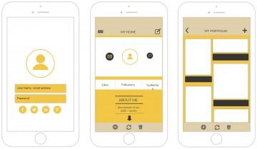 006 Stunning Iphone App Design Template Inspiration  X Io Sketch360