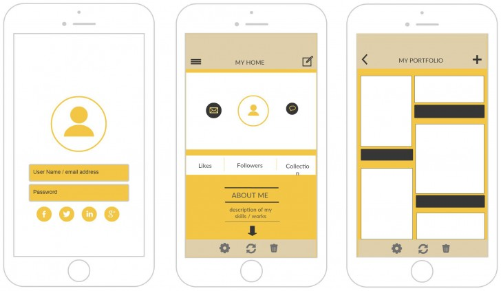 006 Stunning Iphone App Design Template Inspiration  X Io Sketch728