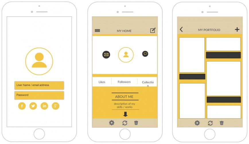 006 Stunning Iphone App Design Template Inspiration  X Io Sketch868