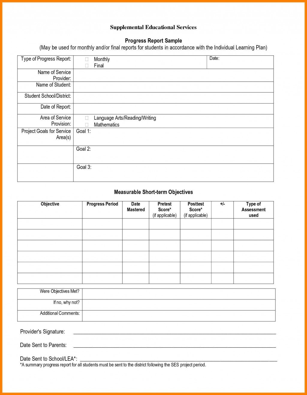 006 Stunning Middle School Report Card Template Pdf Design Large