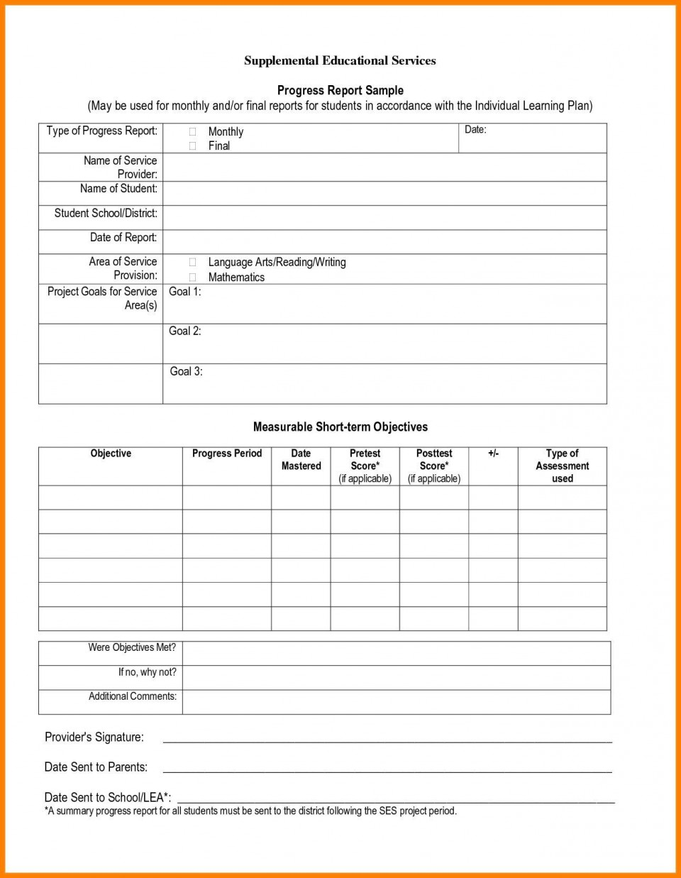 006 Stunning Middle School Report Card Template Pdf Design 960