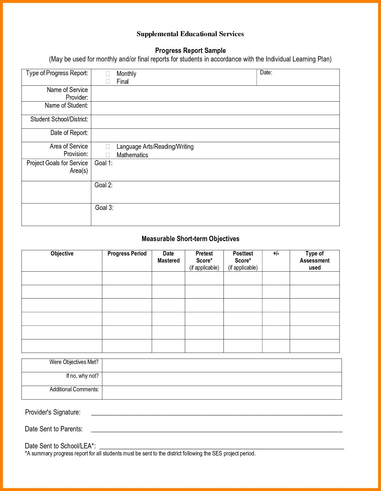006 Stunning Middle School Report Card Template Pdf Design Full