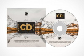 006 Stunning Music Cd Cover Design Template Free Download High Definition