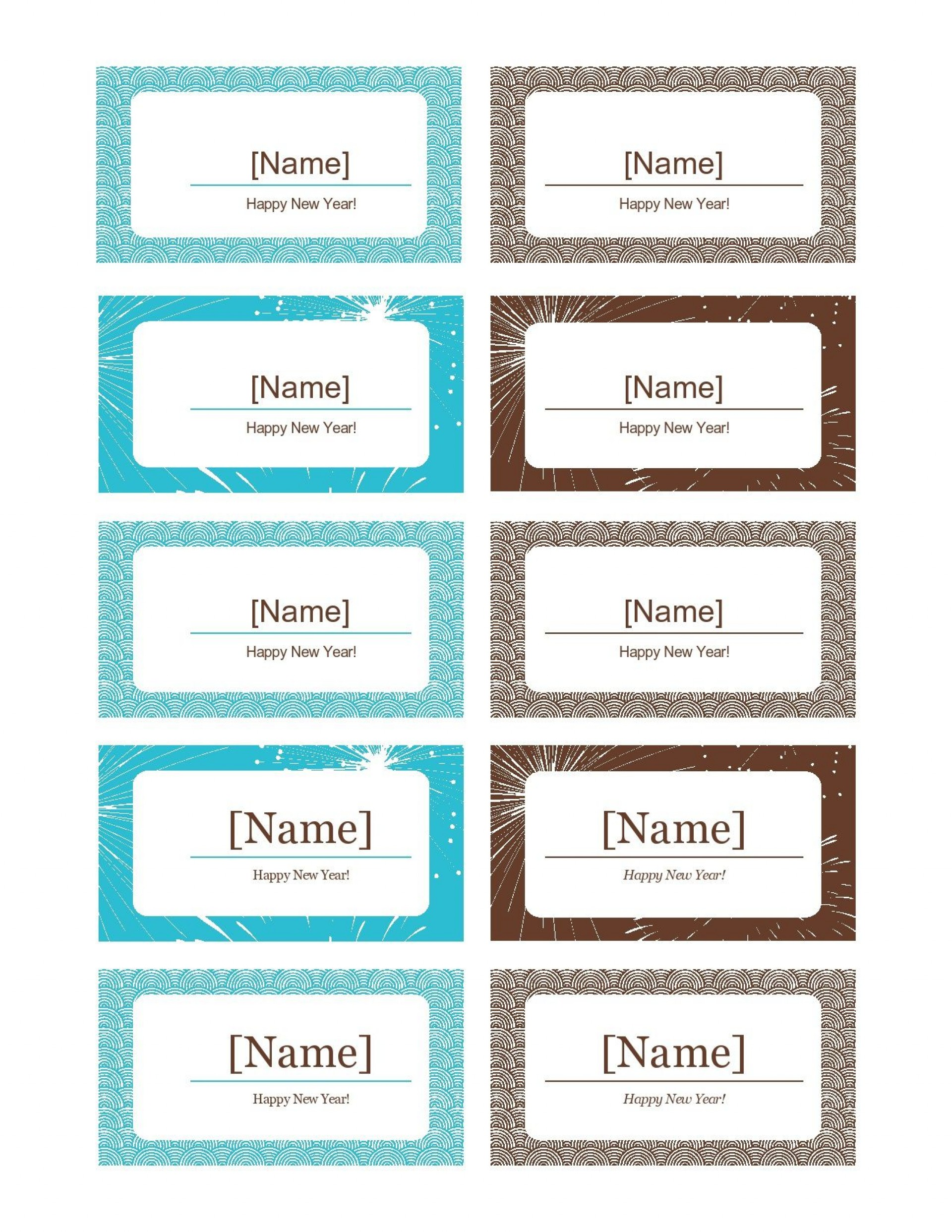 006 Stunning Name Place Card Template Free Download Picture  Psd Vector1920