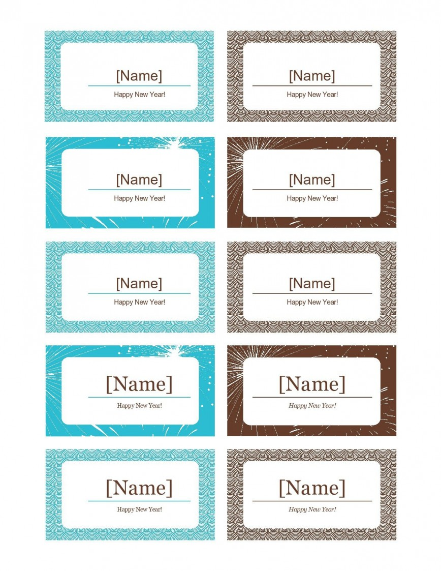 006 Stunning Name Place Card Template Free Download Picture  Table Ai