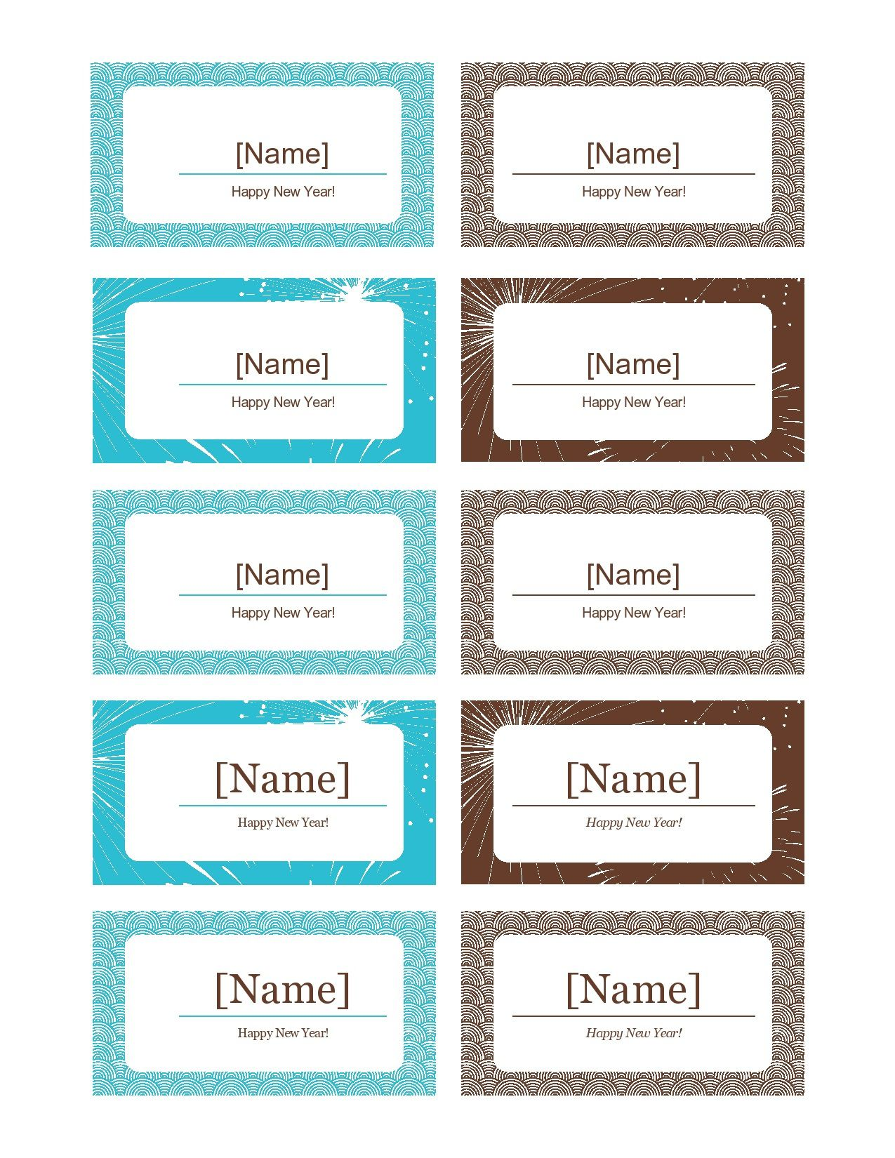 006 Stunning Name Place Card Template Free Download Picture  Psd VectorFull