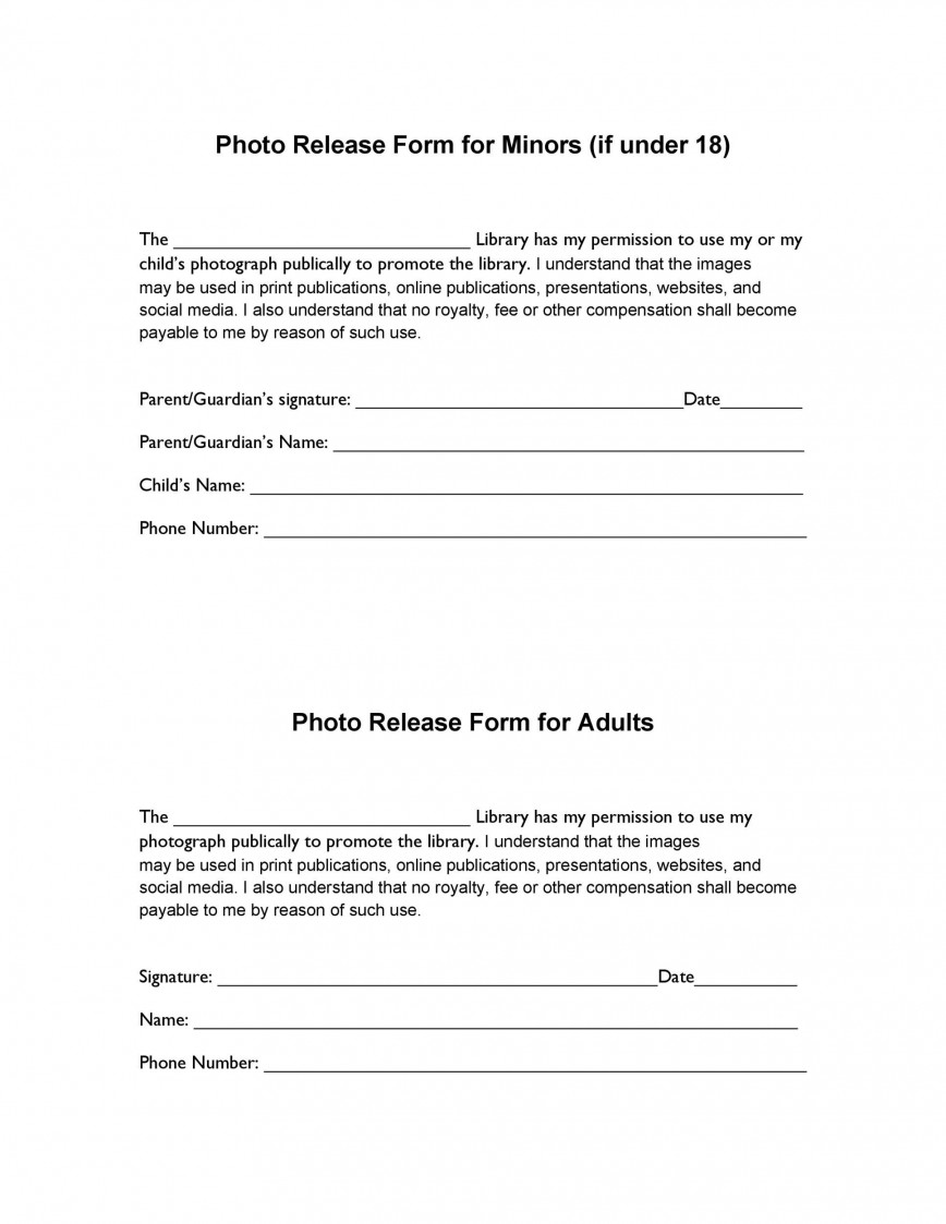 006 Stunning Photo Release Form Template Inspiration  Photograph Permission Slip Copyright Free And Video Uk