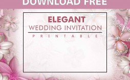 006 Stunning Printable Wedding Invitation Template Example  Templates Etsy Free For Microsoft Word