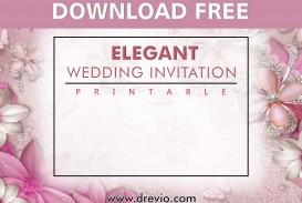 006 Stunning Printable Wedding Invitation Template Example  Free For Microsoft Word Vintage