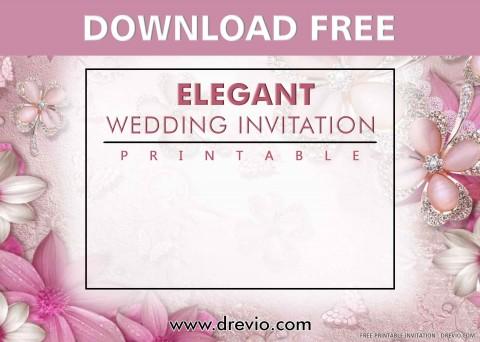 006 Stunning Printable Wedding Invitation Template Example  Free For Microsoft Word Vintage480