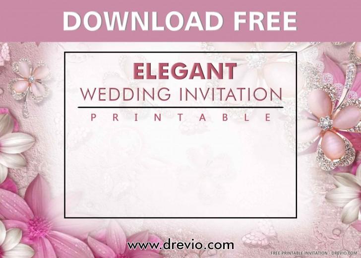 006 Stunning Printable Wedding Invitation Template Example  Free For Microsoft Word Vintage728