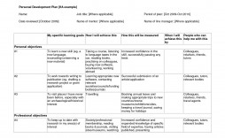 006 Stunning Professional Development Plan Template Sample  Example For Manager Excel
