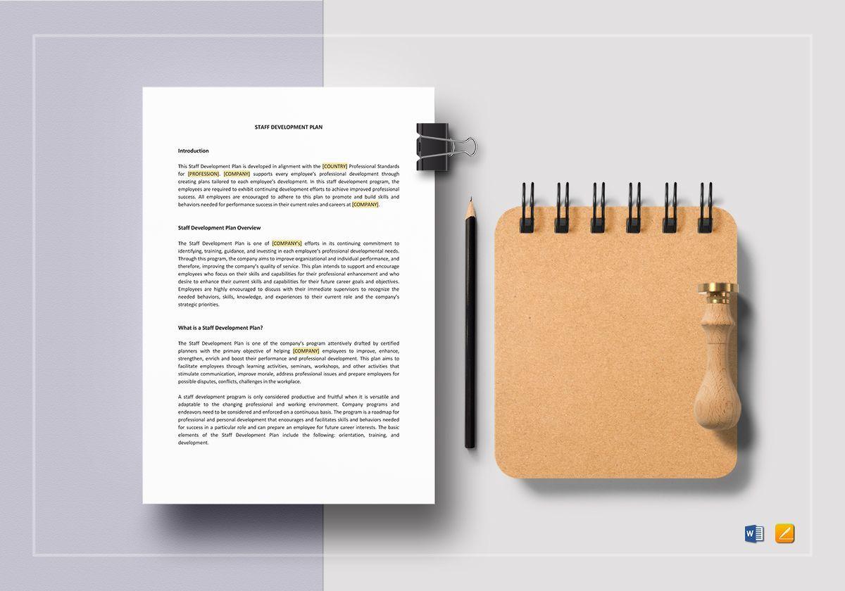 006 Stunning Professional Development Plan Template Word Photo Full