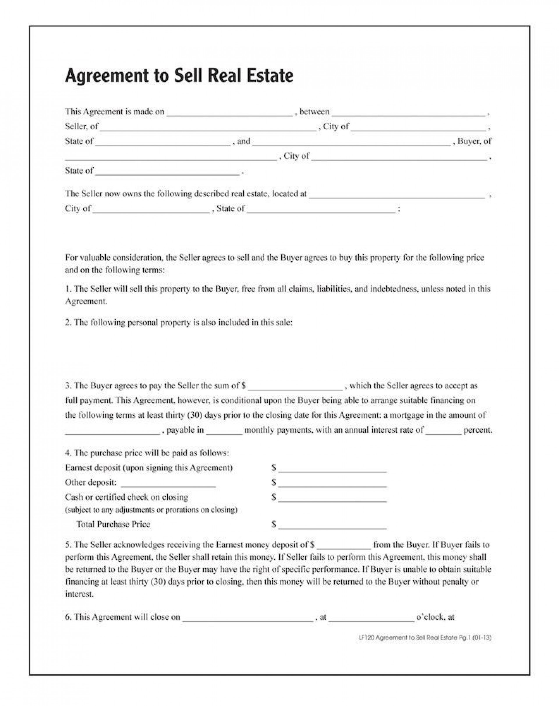 006 Stunning Real Estate Purchase Agreement Template High Definition  Contract California Minnesota British Columbia1920