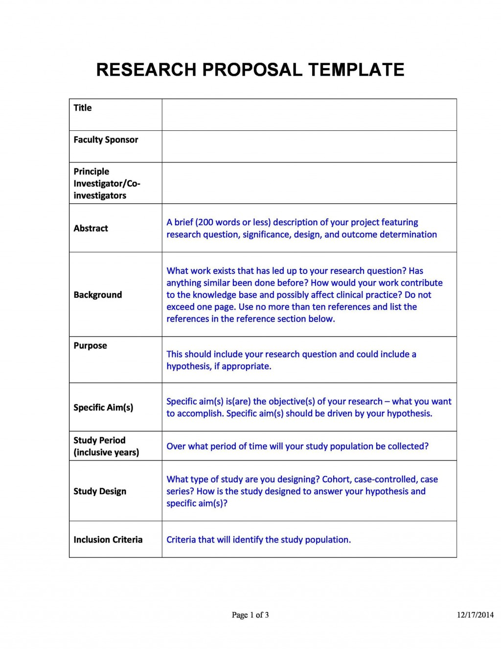 006 Stunning Research Project Proposal Template Word Example Large