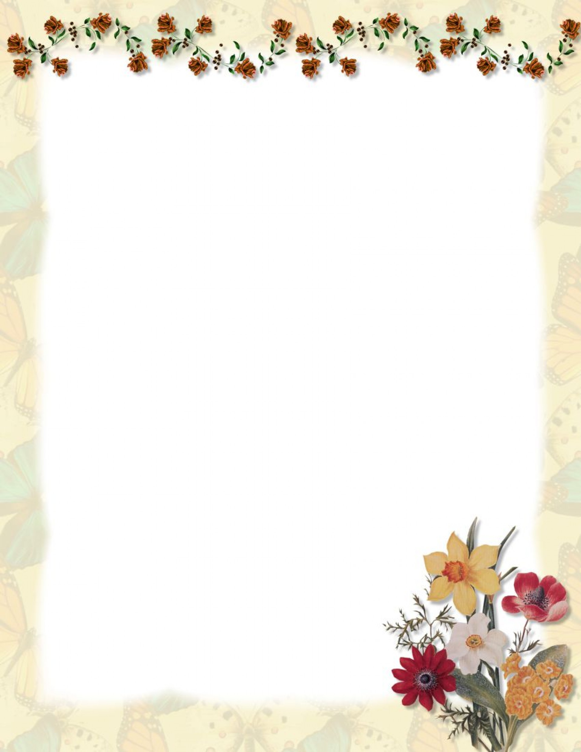 006 Stunning Stationary Template For Word Example  Lined Stationery Free Download1920