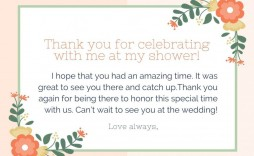 006 Stunning Thank You Note Template Wedding Shower High Resolution  Bridal Card Sample Wording
