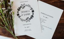 006 Stunning Trifold Wedding Program Template High Resolution  Tri Fold Word Folded Example
