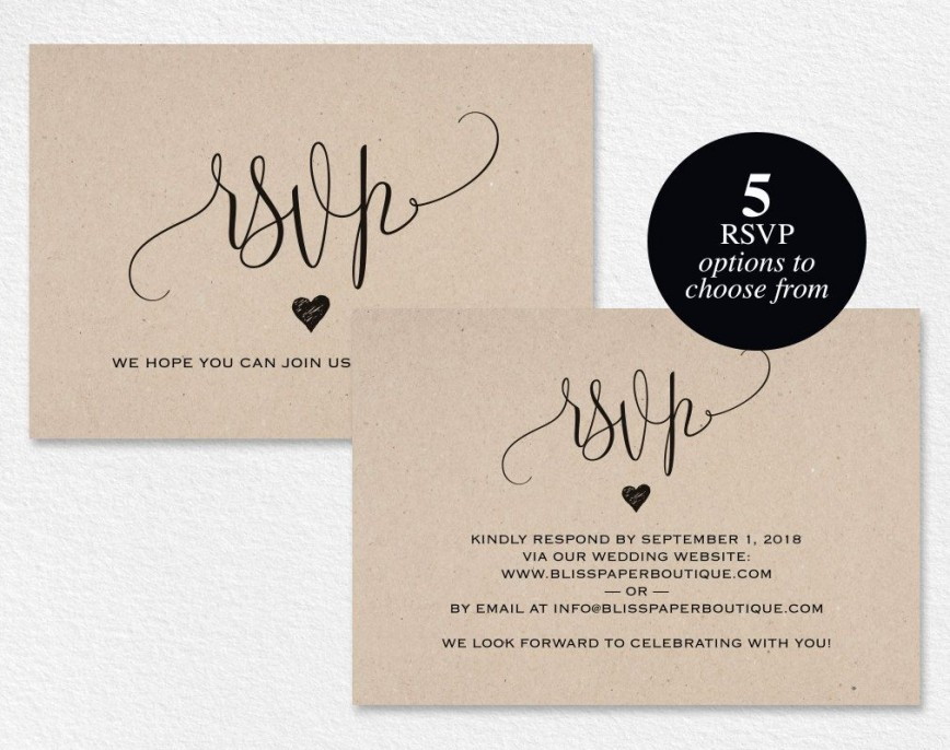 006 Stunning Wedding Rsvp Card Template Design  Templates Free Printable Invitation