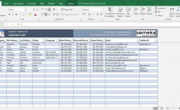 006 Stupendou Excel Contact List Template Sample  Phone Download Spreadsheet Telephone