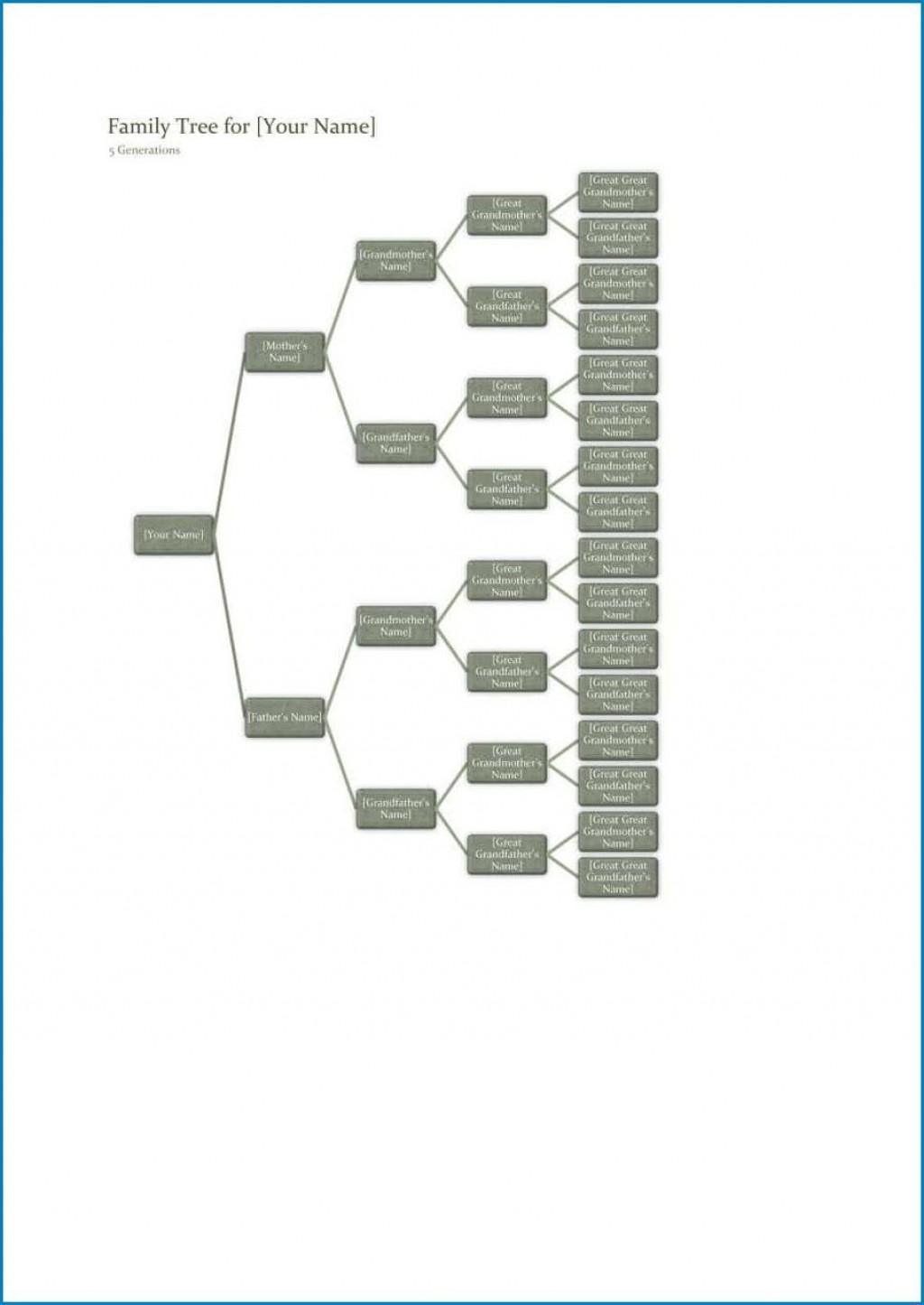 006 Stupendou Excel Family Tree Template Idea  7 Generation 4Large
