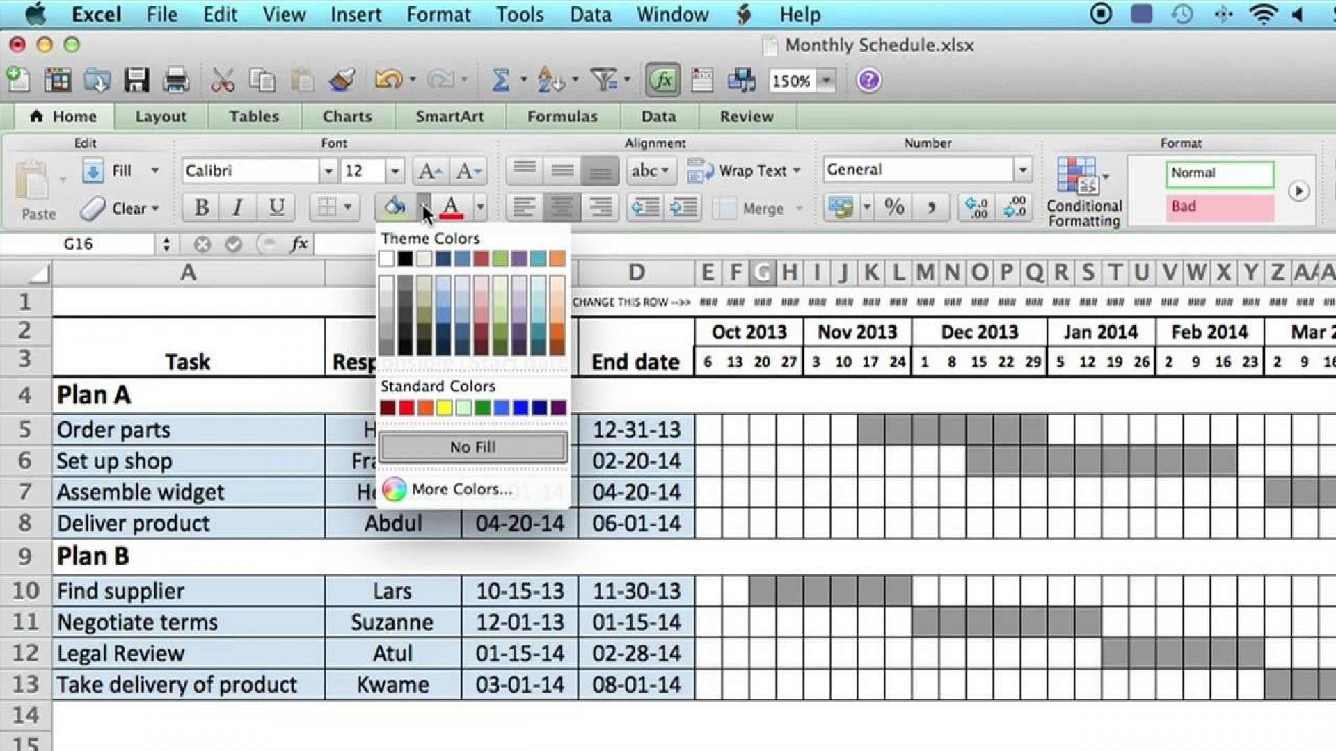 006 Stupendou Excel Work Planner Template Sample  Microsoft Monthly Schedule Plan Scheduling1920