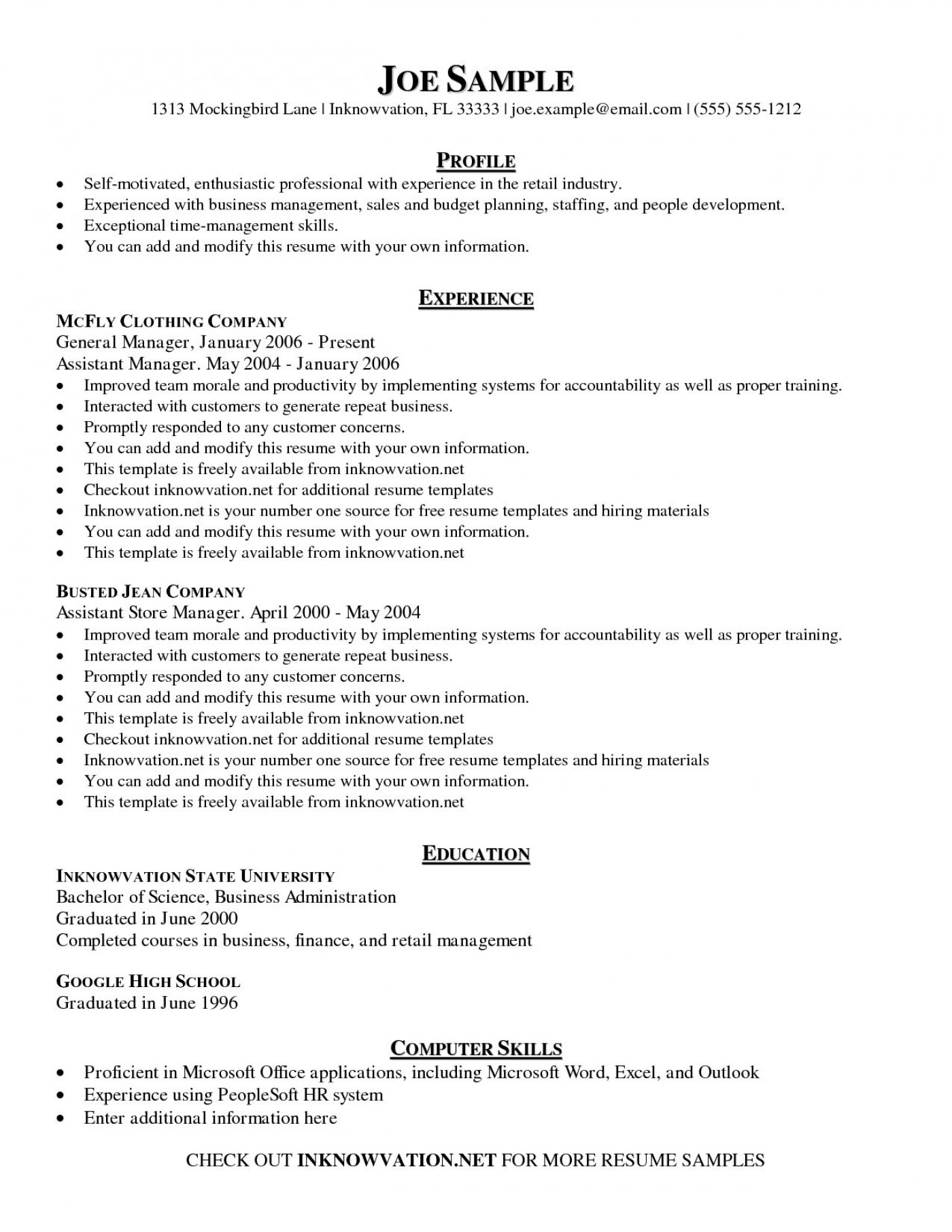 006 Stupendou Free Basic Resume Template Sample  Download For Fresher Microsoft Word 20071400