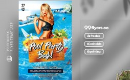 006 Stupendou Free Pool Party Flyer Template Psd High Definition  Photoshop