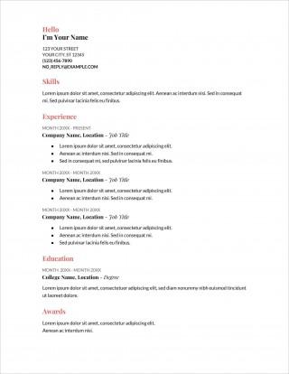 006 Stupendou Free Printable Resume Template Australia Photo 320