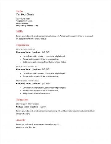 006 Stupendou Free Printable Resume Template Australia Photo 360