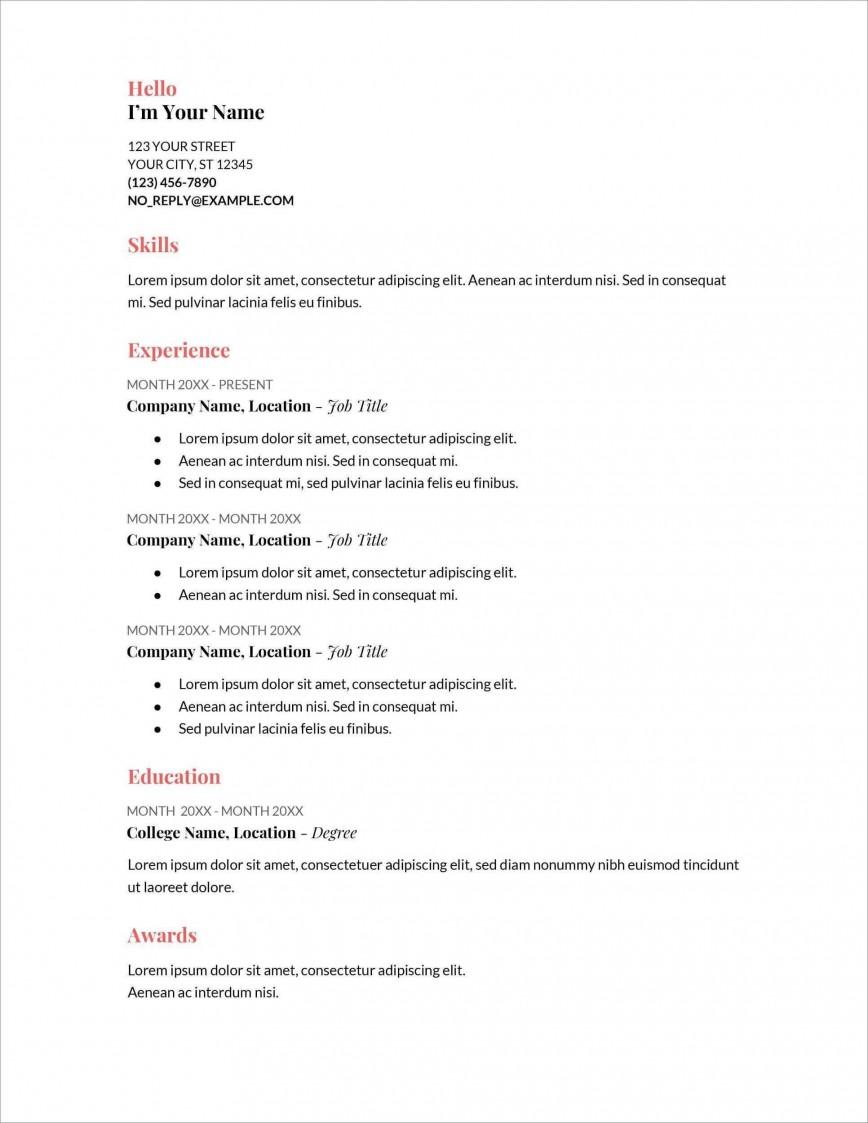 006 Stupendou Free Printable Resume Template Australia Photo 868
