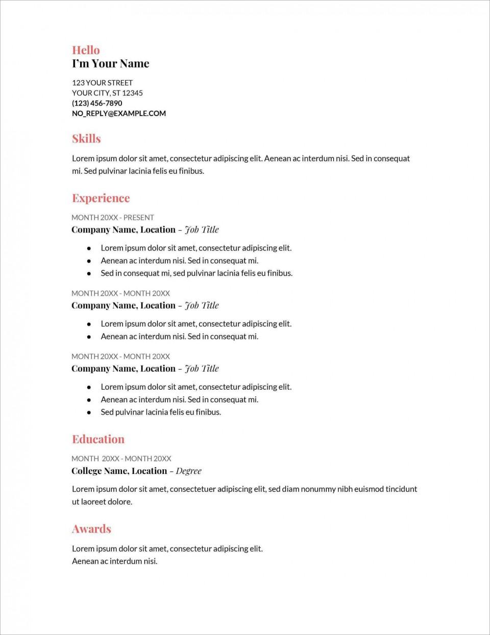 006 Stupendou Free Printable Resume Template Australia Photo 960