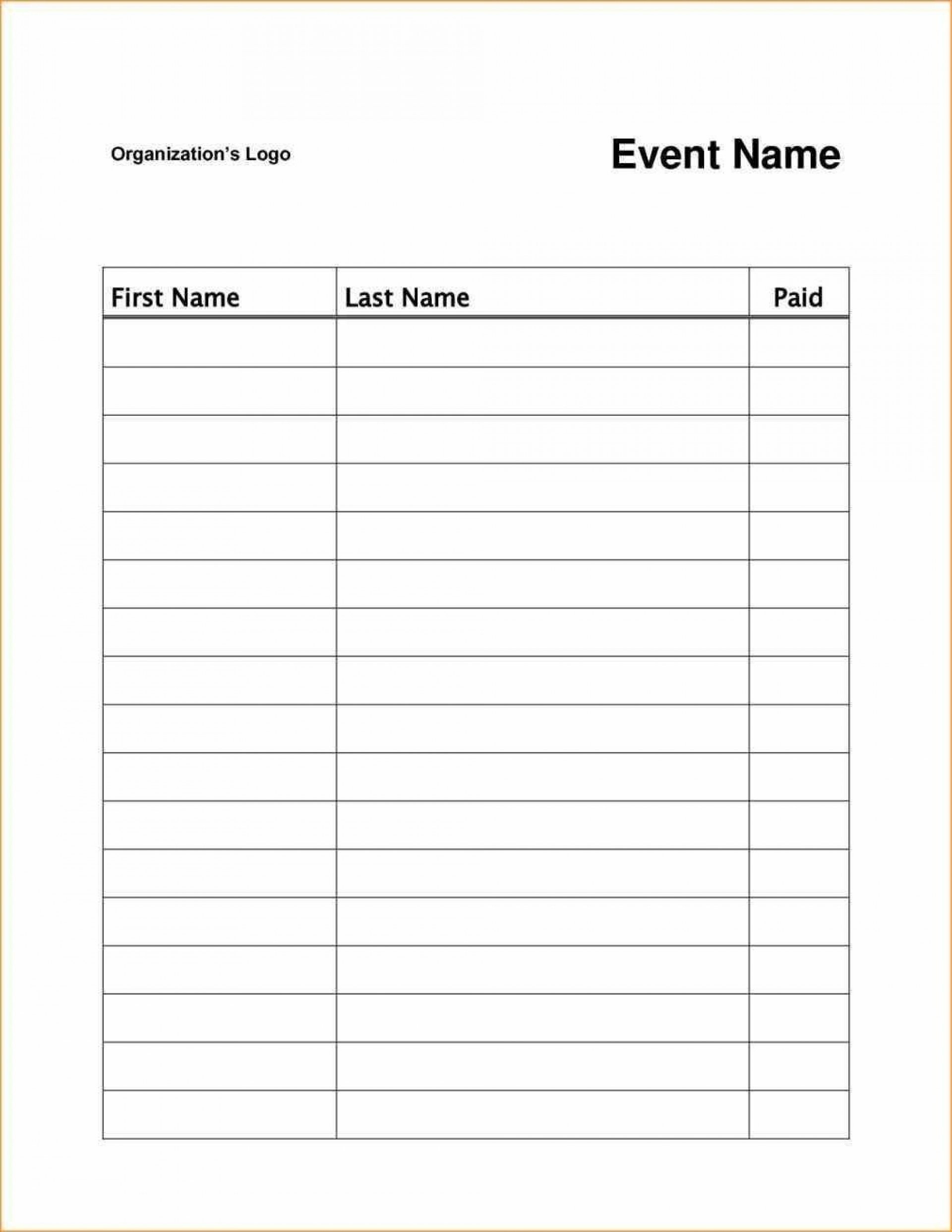 006 Stupendou Free Sign Up Sheet Template Picture  Printable Potluck Word Blank Google Doc1920