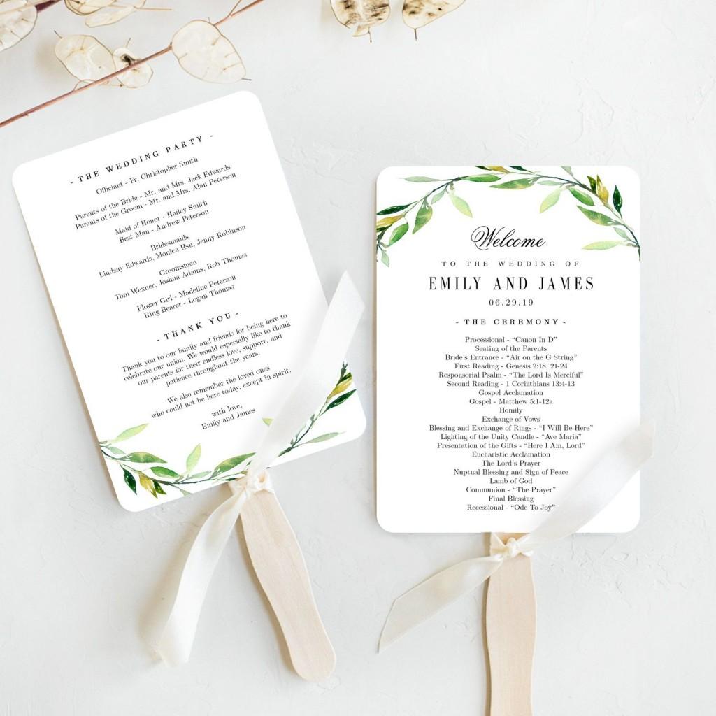 006 Stupendou Free Wedding Program Fan Template Concept  Templates Printable Paddle WordLarge