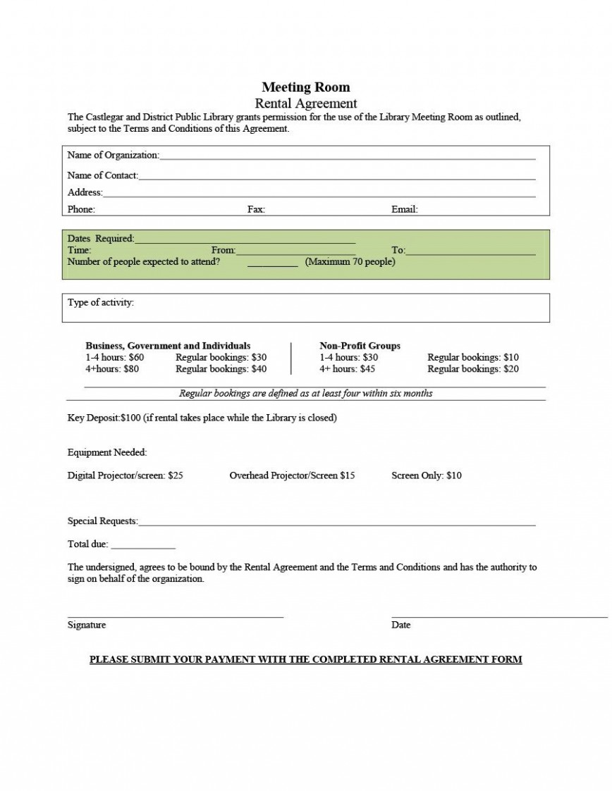 006 Stupendou Generic Room Rental Agreement Free Inspiration  Printable