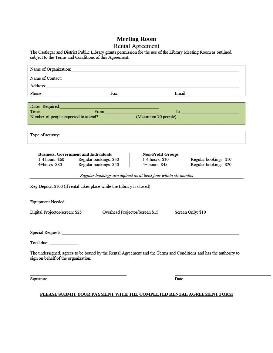 006 Stupendou Generic Room Rental Agreement Free Inspiration  PrintableFull