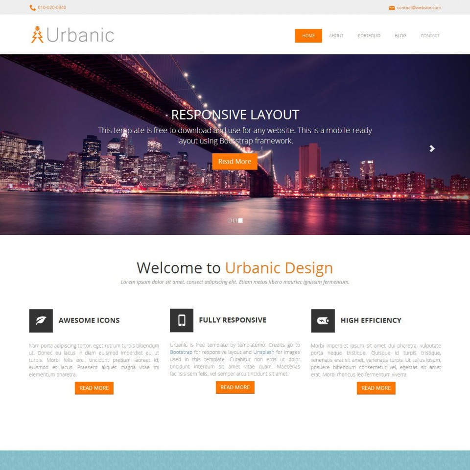 006 Stupendou One Page Website Template Html5 Responsive Free Download Sample 960