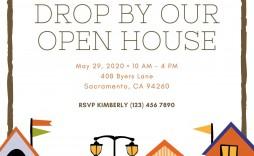 006 Stupendou Open House Invitation Template Design  Templates Free Printable Busines