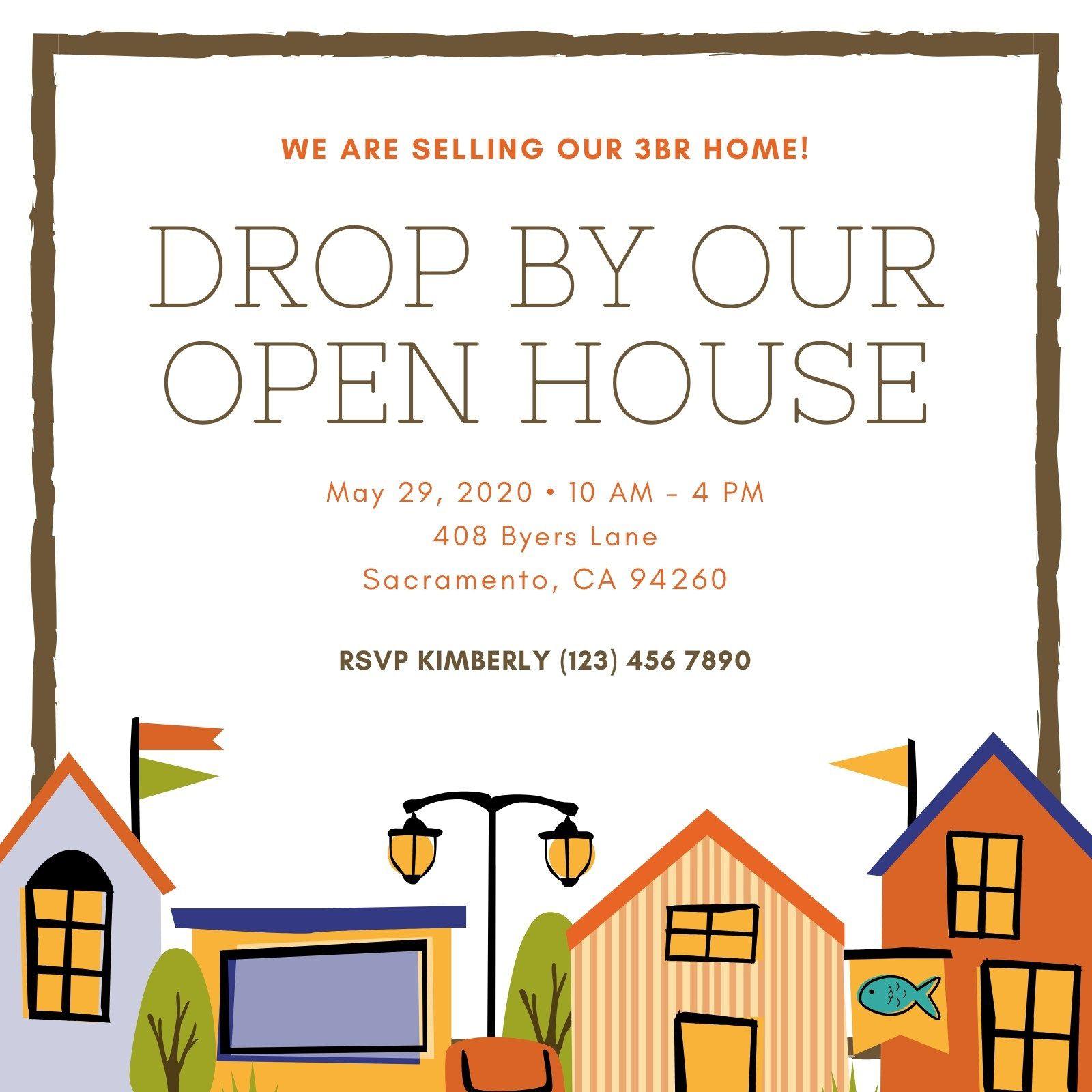 006 Stupendou Open House Invitation Template Design  Templates Free Printable BusinesFull