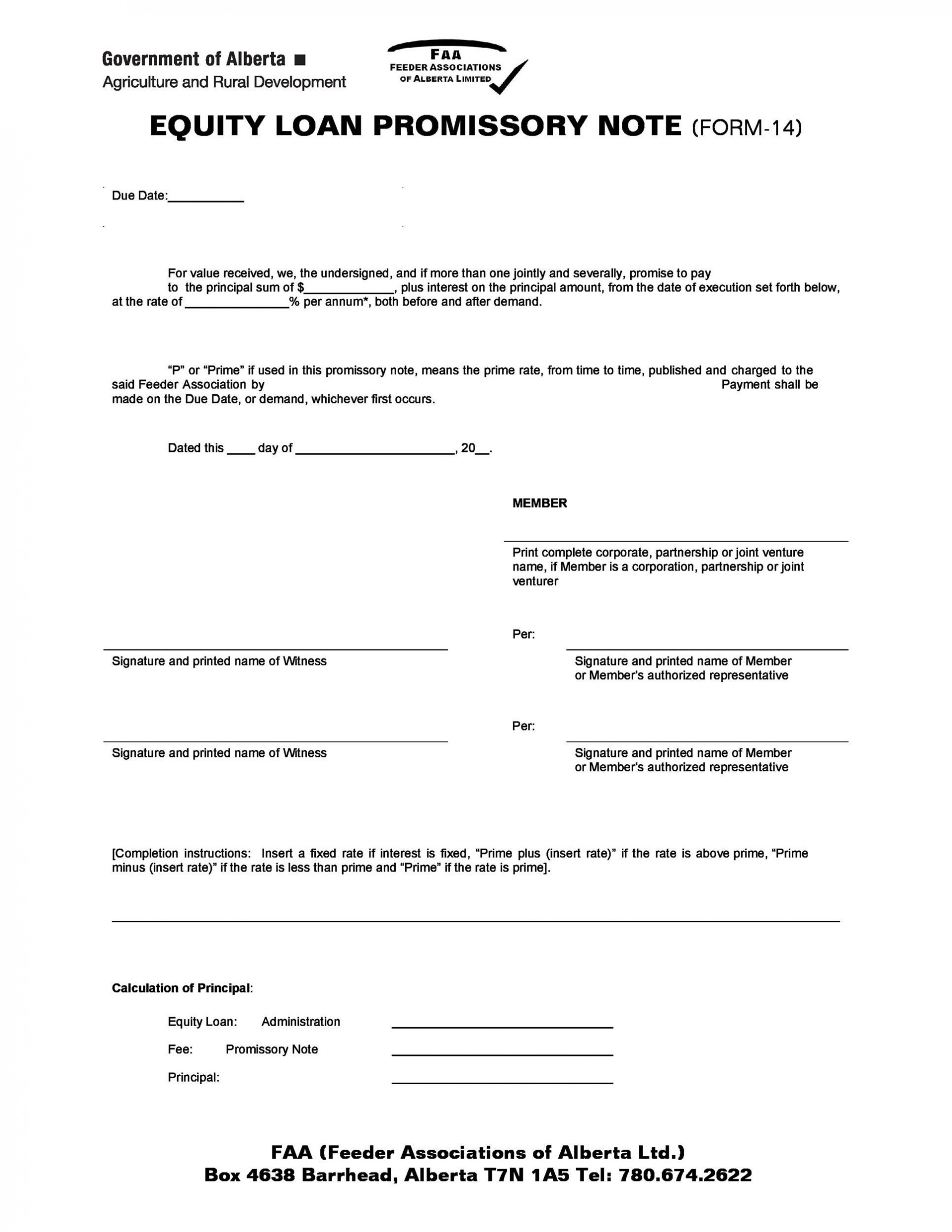 006 Stupendou Promissory Note Template Free Example  Pdf Florida Blank Form1920