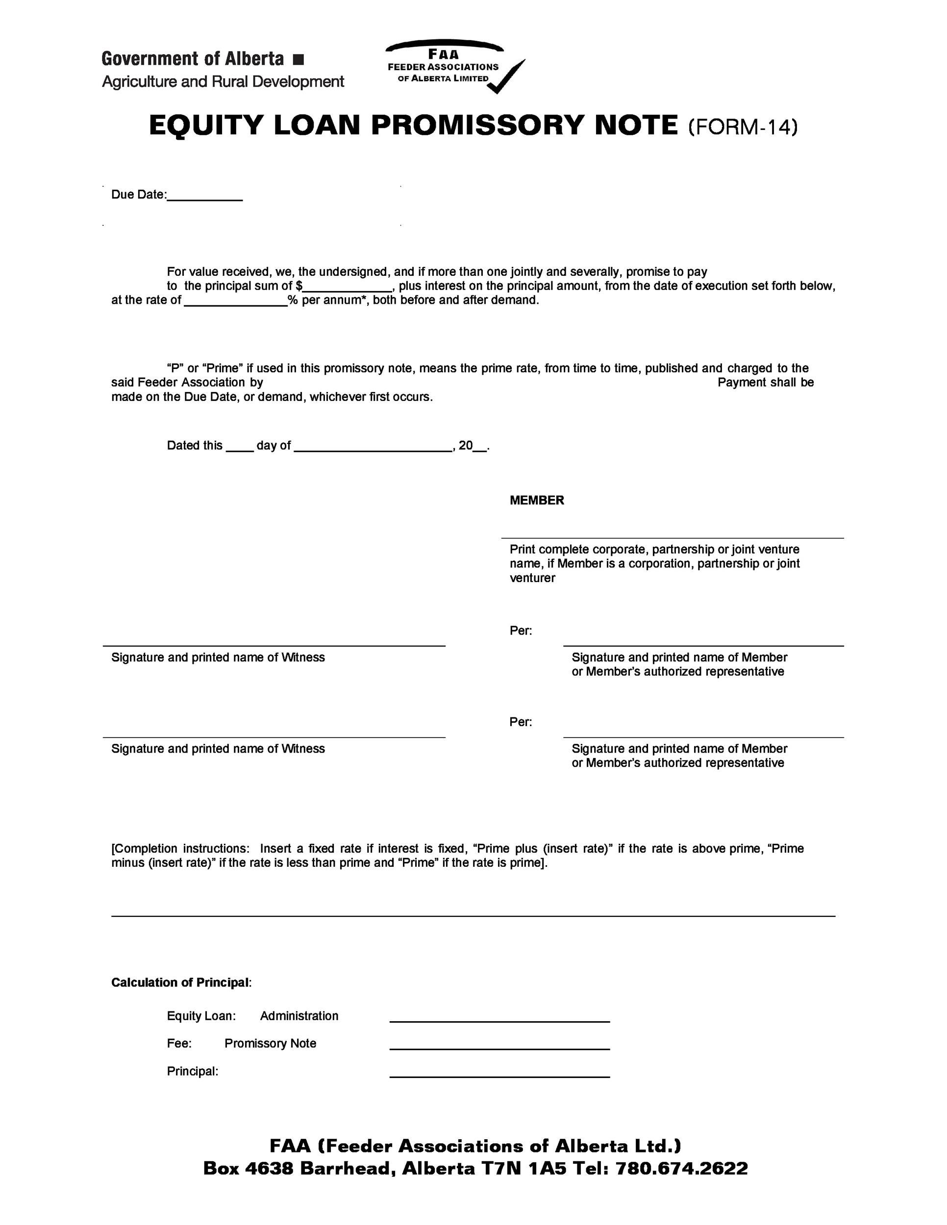 006 Stupendou Promissory Note Template Free Example  Printable Blank Form Download Pdf CanadaFull