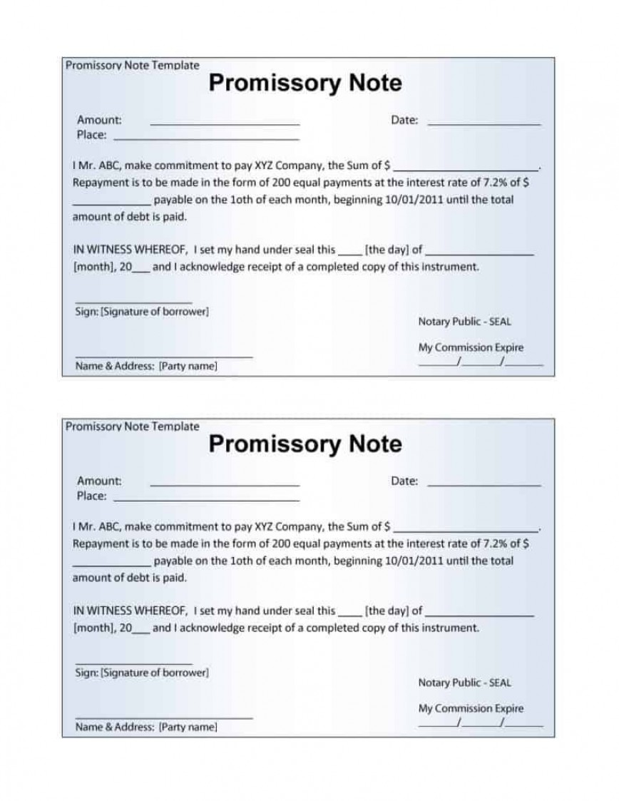 006 Stupendou Promissory Note Template Word High Definition  Form Document Free Sample868