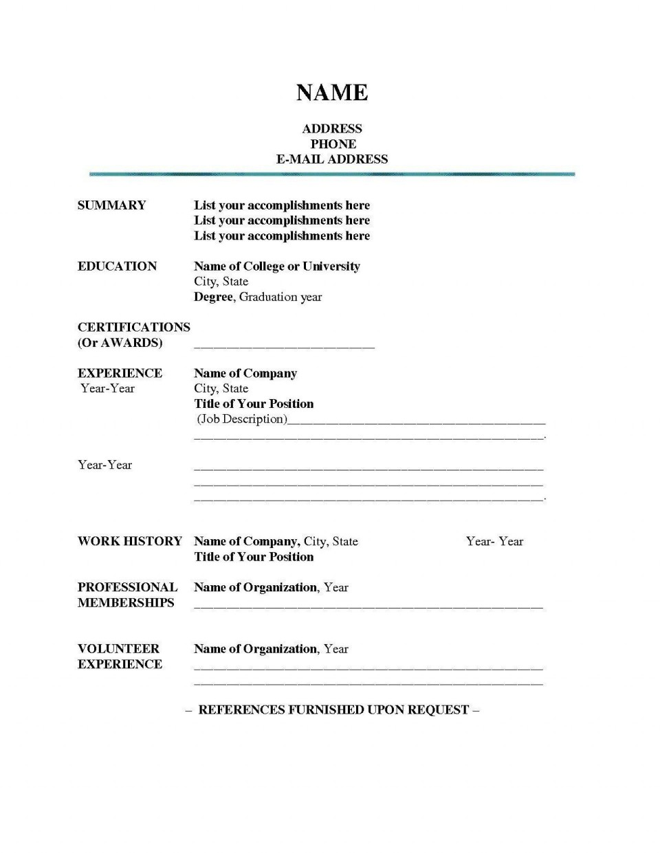 006 Stupendou Resume Reference List Template Microsoft Word Example 960