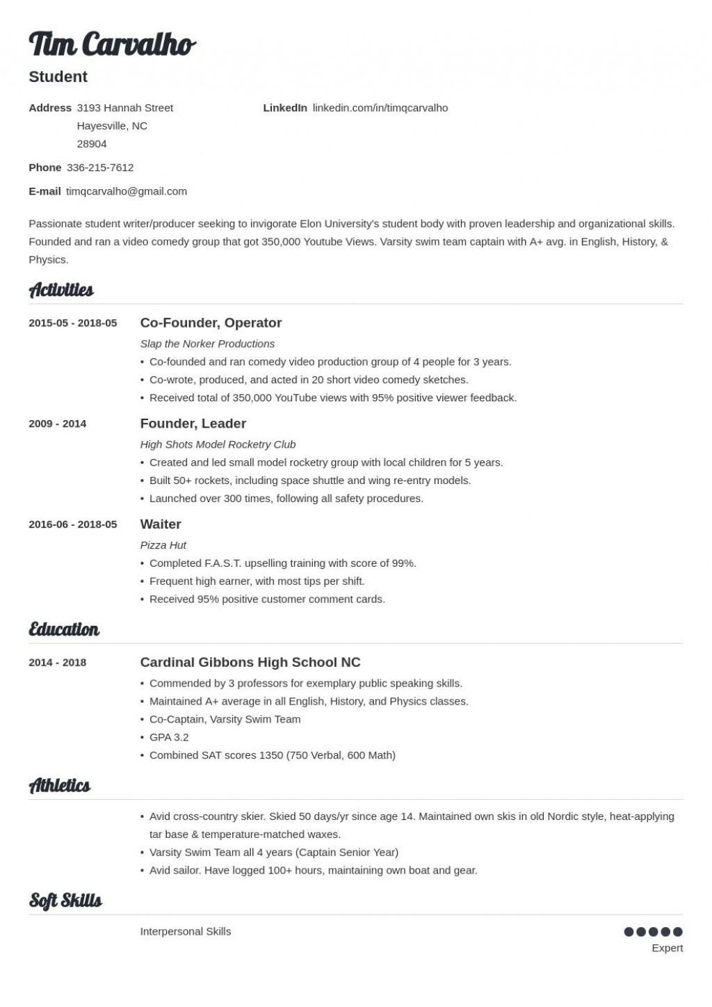 006 Stupendou Resume For College Application Template Highest Quality  TemplatesLarge