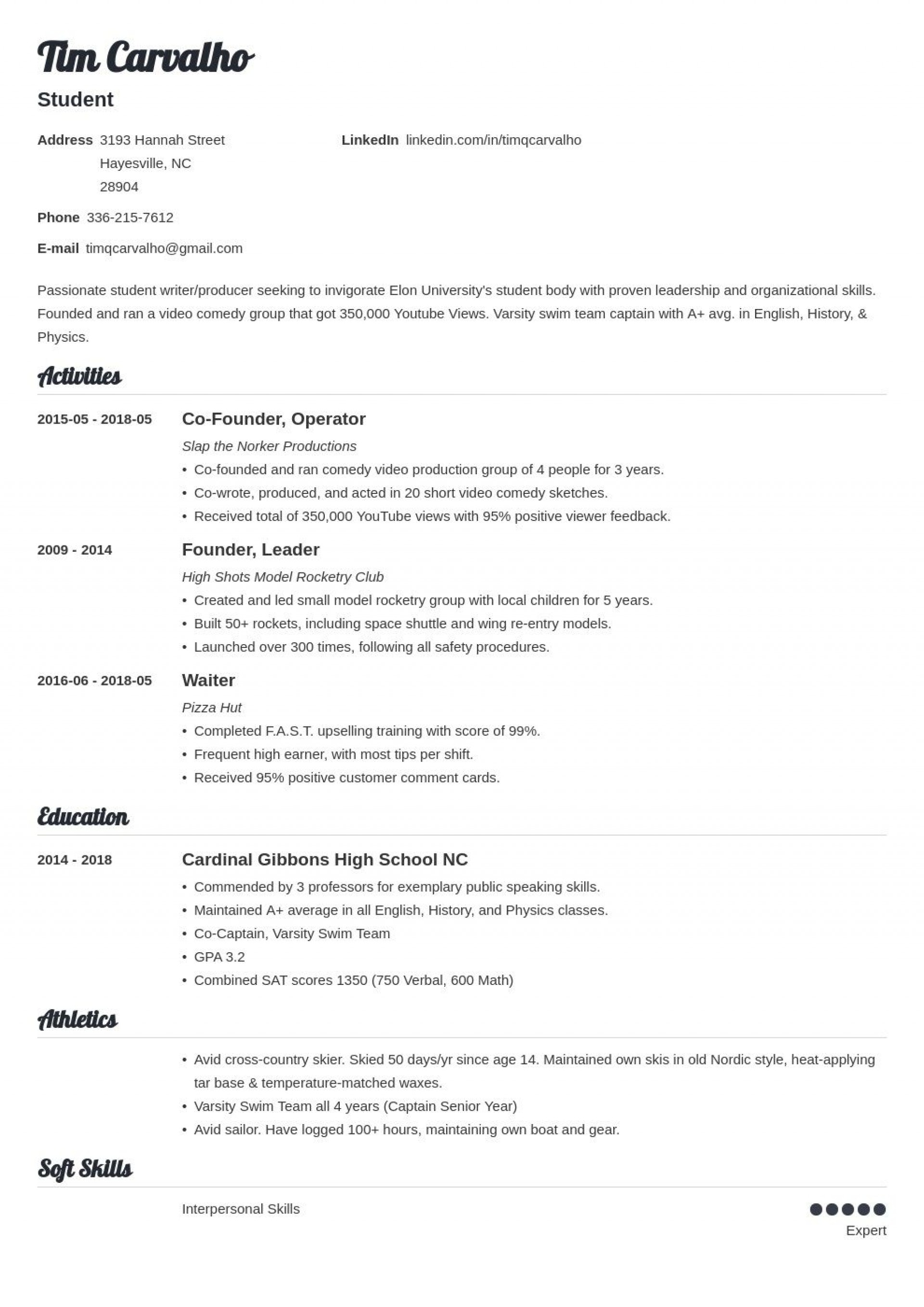 006 Stupendou Resume For College Application Template Highest Quality  Templates1920