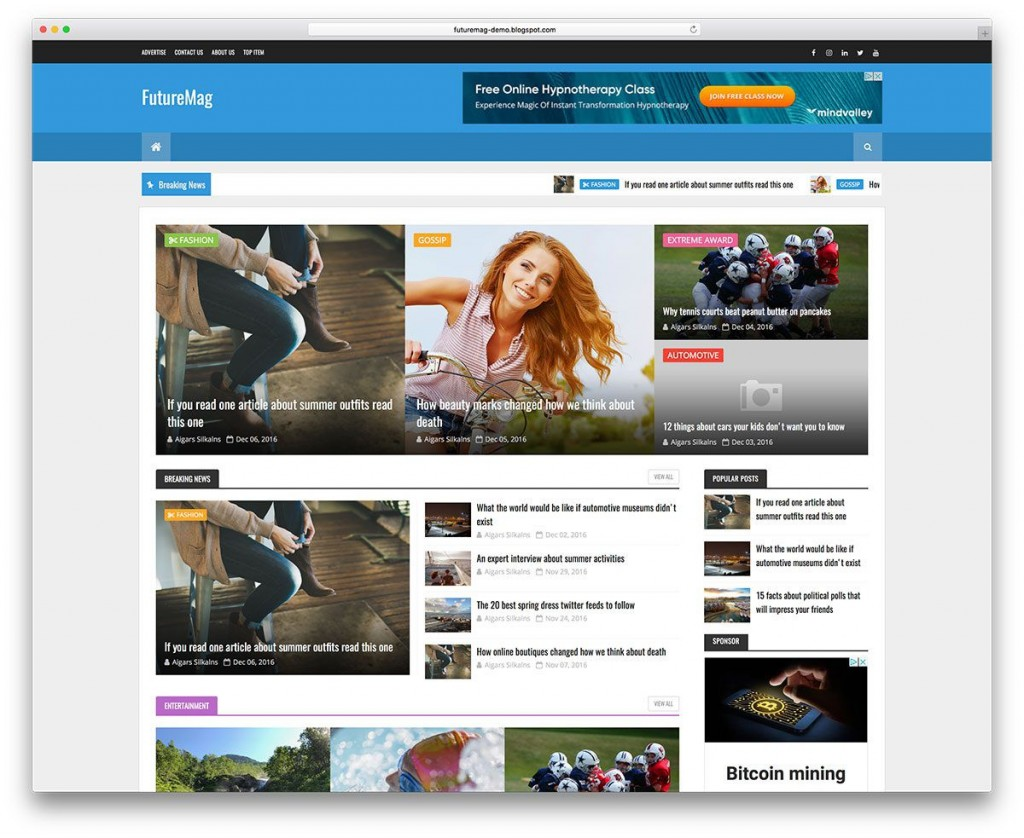 006 Surprising Best Free Responsive Blogger Template 2018 High Resolution Large
