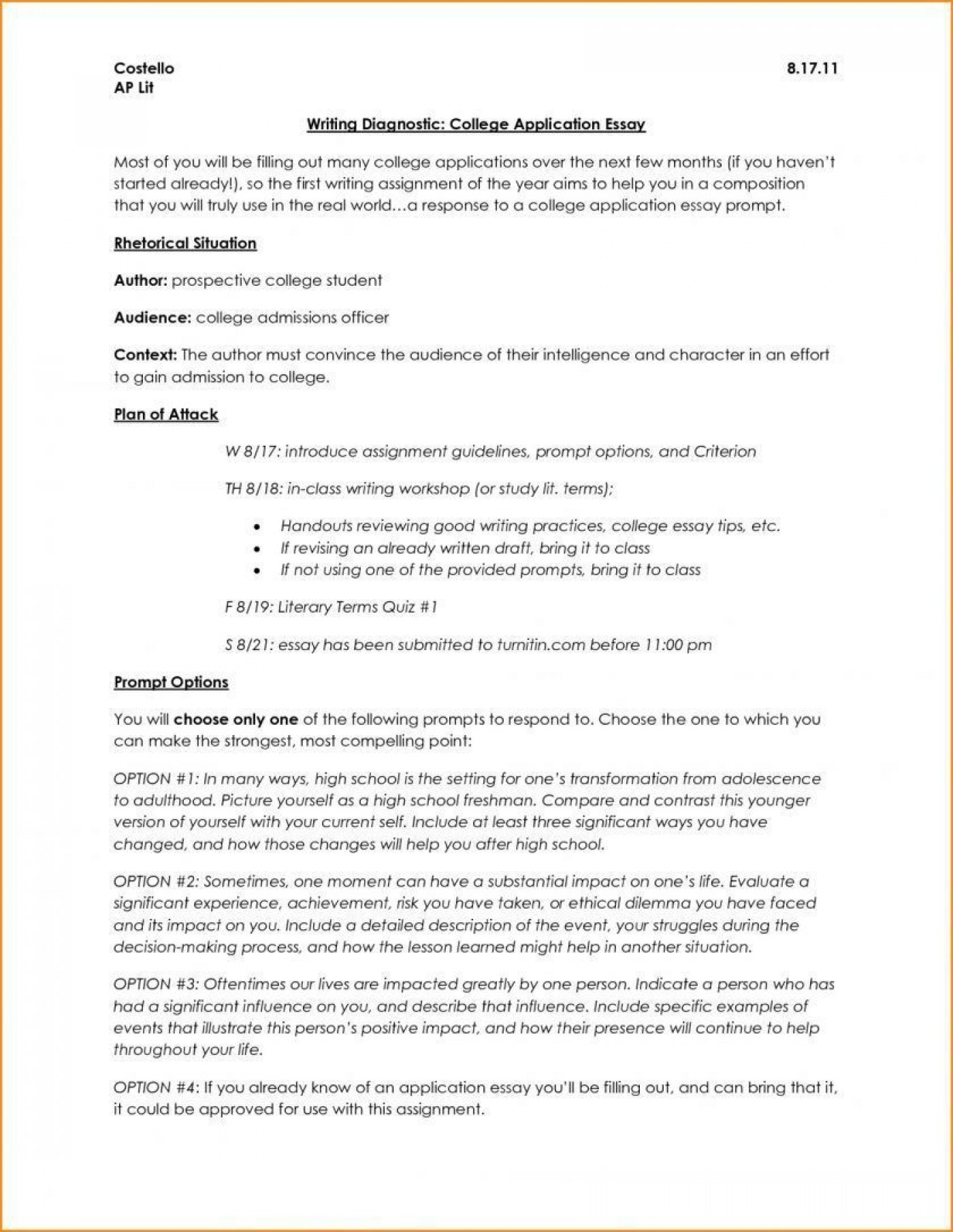 006 Surprising College Application Essay Outline Example Idea  Admission Format Heading Narrative Template1400