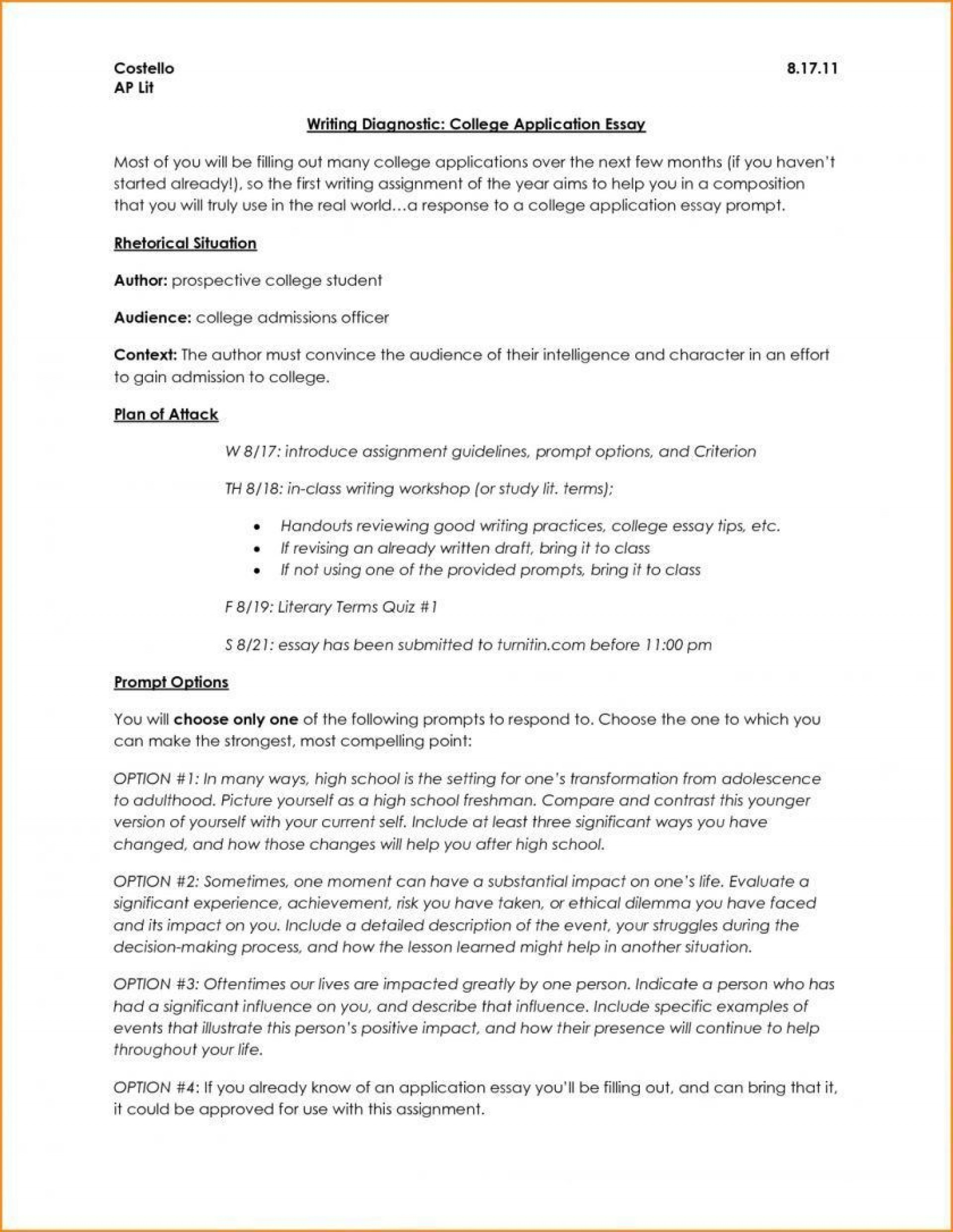 006 Surprising College Application Essay Outline Example Idea  Admission Format Heading Narrative Template1920